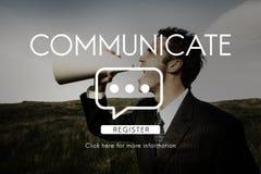 Communiquez la connexion de technologie de la parole Images libres de droits