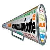 Communiquez le mégaphone de corne de brume écartent Word illustration libre de droits