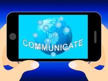 Communiquez les télécommunications mondiales et les connexions 3d Illus d'expositions illustration de vecteur