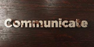 Communiquez - titre en bois sale sur l'érable - l'image courante gratuite de redevance rendue par 3D illustration de vecteur