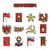 Communism cartoon concept icons. Vector illustration, EPS 10 Stock Photo