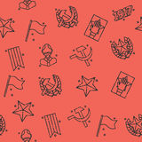 Communism concept icons pattern Stock Photos