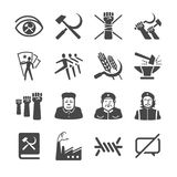 Communism icons Stock Photography