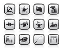 Communism, socialism and revolution icons Royalty Free Stock Photography