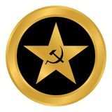 Communism star button. Communism star button on white background. Vector illustration Stock Photo