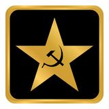 Communism star button. Communism star button on white background. Vector illustration Stock Photography