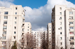 Communist apartment blocks Royalty Free Stock Photos