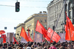 Communist demonstration on the Day of Victory Royalty Free Stock Images