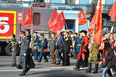 Communist demonstration on the Day of Victory Stock Image