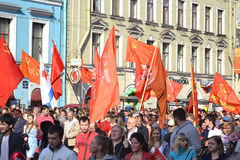 Communist demonstration on the Day of Victory Royalty Free Stock Photos