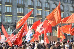 Communist demonstration on the Day of Victory Stock Photos
