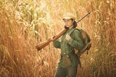 Communist girl Royalty Free Stock Photography