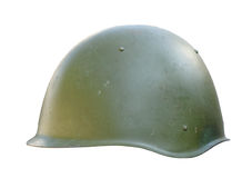 Communist military helmet Stock Image