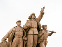 Communist Monument in Tiananmen Square, Beijing, China Royalty Free Stock Photos