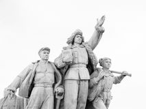 Communist Monument in Tiananmen Square, Beijing, China Royalty Free Stock Images