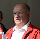 Communist Party leader Gennady Zyuganov at the press festival in Moscow. Stock Images