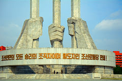 Communist Party Monument, Pyongyang, North-Korea Stock Image