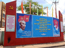 Communist Party posters, Ben Tre, Vietnam Royalty Free Stock Image