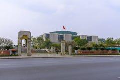 Communist Party of Vietnam Politburo building. Modern headquarters of the Politburo of the Communist Party of Vietnam in downtown Hanoi, Vietnam Stock Image
