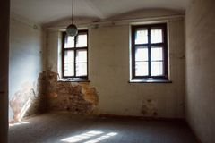 A Communist Prison commemorating communist atrocities and practices of torture and enforcing confession. The Communist Prison in the Hungarian Fortifications is royalty free stock images
