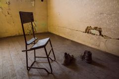 A Communist Prison commemorating communist atrocities and practices of torture and enforcing confession. The Communist Prison in the Hungarian Fortifications is royalty free stock photo