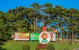 Communist propaganda billboards royalty free stock photo