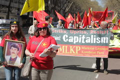 Communist protesters Royalty Free Stock Images