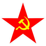 Communist star Stock Image