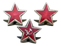 Communist star. Three Communist star isolated on a white background Royalty Free Stock Images