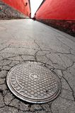 Communist Star on Pavement in Beijing, China Royalty Free Stock Photo