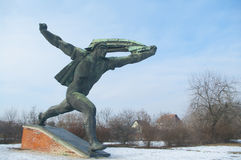 Communist statue. Against sky background near Budapest, Hungary Royalty Free Stock Image