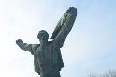 Communist statue. Against sky background near Budapest, Hungary Stock Photos
