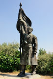 Communist Statue, Memento Park. A picture of a communist statue in Memento Park / Szobor Park just outside Budapest, Hungary. In this park there is an exposition Royalty Free Stock Images