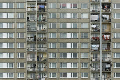 Communist style apartments Royalty Free Stock Photo