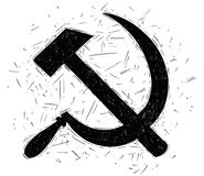 Communist Symbol Hammer and Sickle Vector Drawing Royalty Free Stock Image
