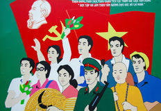 Communist wall painting in Ho Chi Minh City Royalty Free Stock Image