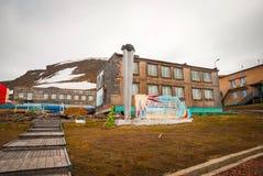 Communistic memorial in Barentsburg, Svalbard Royalty Free Stock Photo