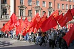 Communistische partijmanifestatie stock foto