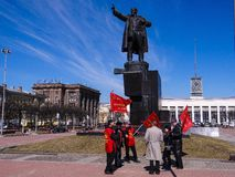 Communists celebrate the birthday of Lenin Royalty Free Stock Images