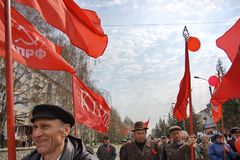 Communists in Russia Royalty Free Stock Photography