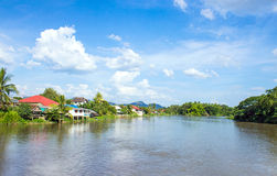 Communities living along the Ping River Royalty Free Stock Image