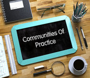 Communities Of Practice Concept on Small Chalkboard. 3D. Small Chalkboard with Communities Of Practice. Small Chalkboard with Communities Of Practice Concept Stock Photo