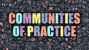 Communities of Practice in Multicolor. Doodle Design. Royalty Free Stock Photography