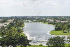 Community湖在Davie,佛罗里达 免版税库存照片
