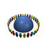 Community around globe Royalty Free Stock Image