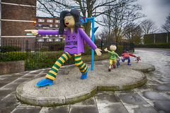 Community art structure in Hoxton, East London Stock Photography