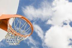 Community Basketball Hoop and Net Stock Image