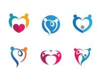 Community care Logo template. Adoption and community care Logo template vector icon Royalty Free Stock Photos