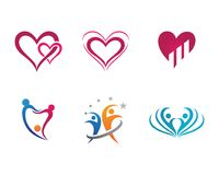 Community care Logo template. Adoption and community care Logo template vector icon Stock Photos
