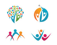 Community Care Logo. Vector Concept Engagement, Togetherness Royalty Free Stock Photos